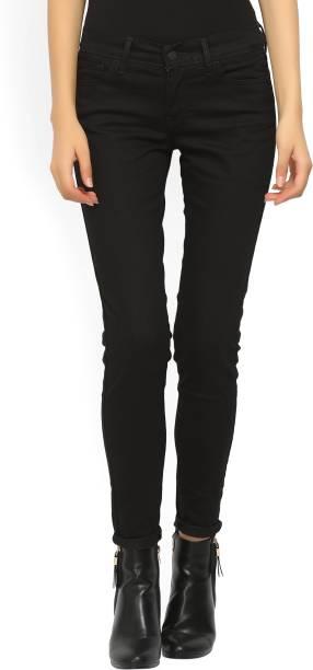 Skinny Black Levi's Women Super Jeans E2WDH9IY