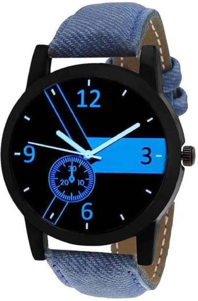 SPLAZOS New Blue Leather Strape Mens Watch Watch - For Men