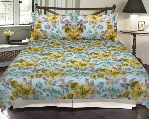 Cannon By Big Bazaar 210 TC Cotton Double Floral Bedsheet