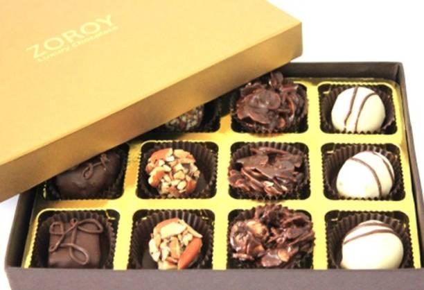 Zoroy Luxury Chocolate signature box of 12 Fudges