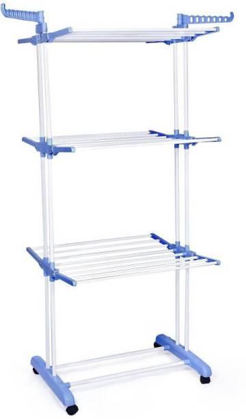 lakshay Steel Floor Cloth Dryer Stand STAINLESS STEEL PIPE –, 222