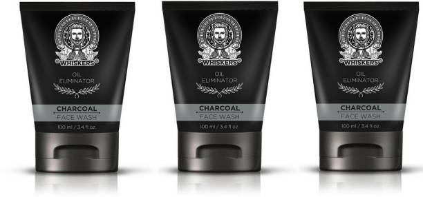 WHISKERS Charcoal  ( Pack of 3 ) Face Wash