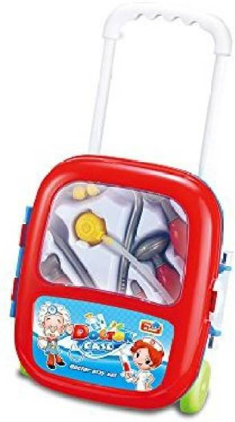 4e39d360831b Lightahead Doctor Play Set With 6 Pcs Accessories Kids Doctors Case On  Wheels Set Great Holiday
