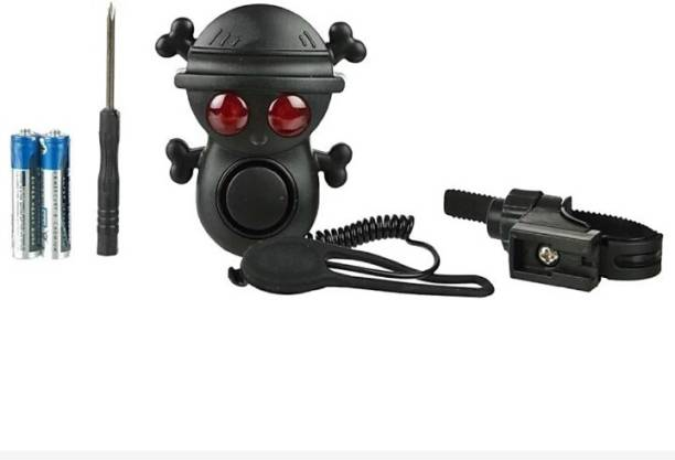 FASTPED Ultra Loud 4 Modes Skull Electric Bike Horns with 2 Warning Light Bicycle Phone Holder
