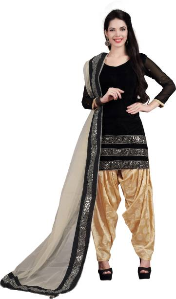 Ffashion Velvet Embroidered Salwar Suit Tta Waistcoat Material