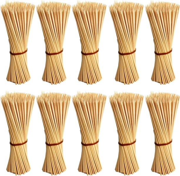 JAMBOREE kebab stick, roast stick, Bamboo Skewers Chocolate Fountain Wooden Fruits BARBECUE Kebab Stick Party Buffet Food Disposable Wooden Roast Fork Set (Pack of 1000) Disposable Bamboo Roast Fork Set
