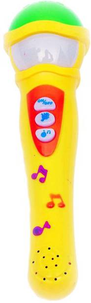 SS Traders -Musical MIC with Microphone 5 music changer Toys - Y/G (Yellow)