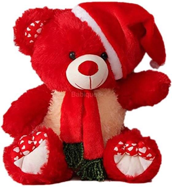 BABIQUE Teddy Bear Santa Birthday Heart Stuffed Soft Toys Plush Toy Kids/Boys/Girls Gift  - 38 cm