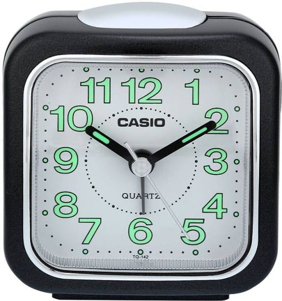 CASIO Analog White, Black Clock