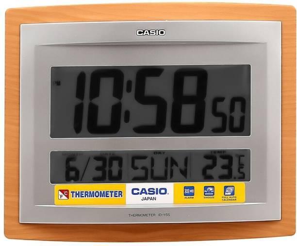 CASIO Digital 20.6 cm X 24.6 cm Wall Clock