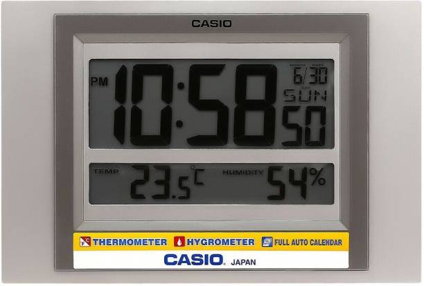 CASIO Digital 19.5 cm X 29 cm Wall Clock