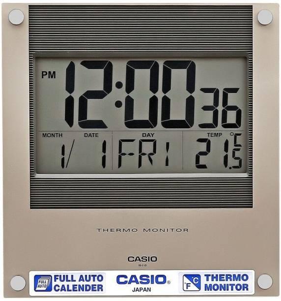 CASIO Digital 23.6 cm X 22.1 cm Wall Clock