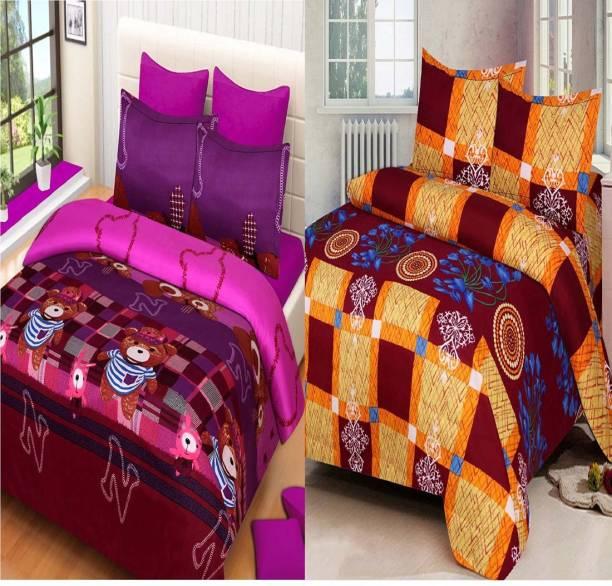 Swiss India 180 TC Polycotton Double Cartoon Bedsheet