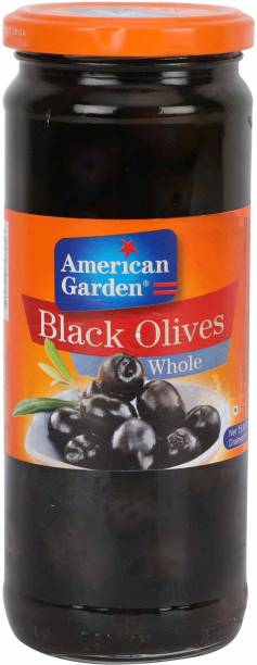 American Garden Whole Black Olives