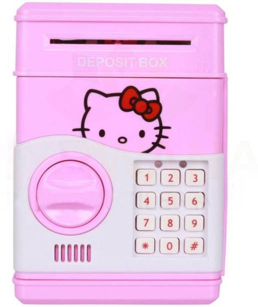 M-Max Character Based Money Safe Kids Piggy Savings Bank with Electronic  Lock ( Hello f2cff1f070476