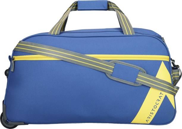 d6d4421afb56 Aristocrat 26 inch 66 cm DAWN DUFFLE TROLLEY 62 BLU Duffel Strolley Bag