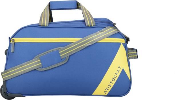 290026d4ed50 Aristocrat 21 inch 53 cm DAWN DUFFLE TROLLEY 52 BLU Duffel Strolley Bag