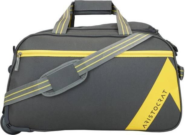 45a1c9e3d2a5 Aristocrat 21 inch 53 cm DAWN DUFFLE TROLLEY 52 GRY Duffel Strolley Bag