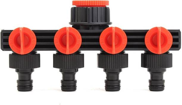 HOKiPO 4-Way Water Tap Connector Adapter Hose Connector