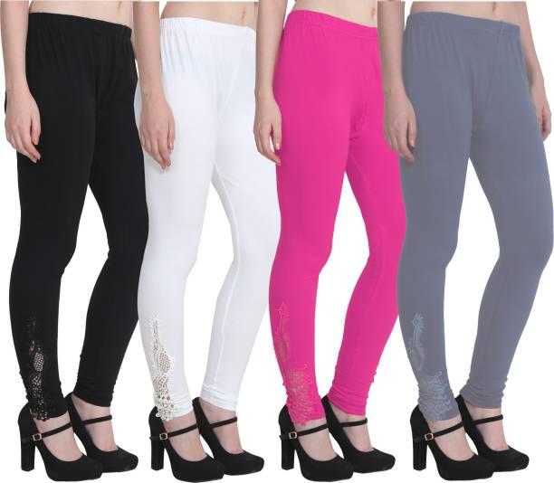 9d86ab1a67c75b Grey Leggings Churidars - Buy Grey Leggings Churidars Online at Best ...