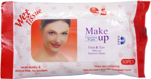 One Personal Care Face & Eye Cosmetic Cleansing Wipes RED (10 Cosmetic Pare Towelettes) | Makeup Remover