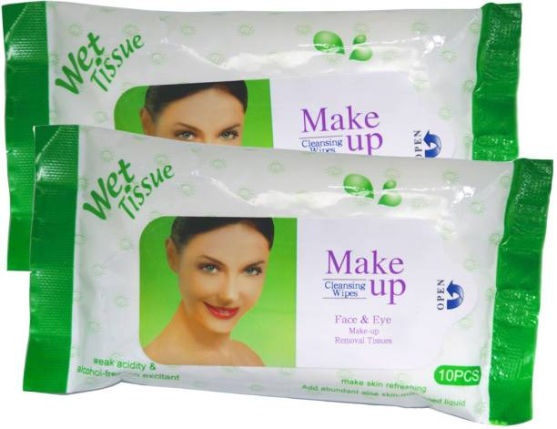 One Personal Care Face & Eye Cosmetic Cleansing Wipes GRN (20 Cosmetic Pare Towelettes) | Makeup Remover