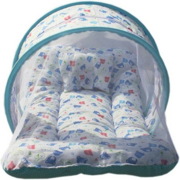 babique Cotton Infants Baby Cotton Padded Bed Net Mosquito Net (Multicolor) Mosquito Net