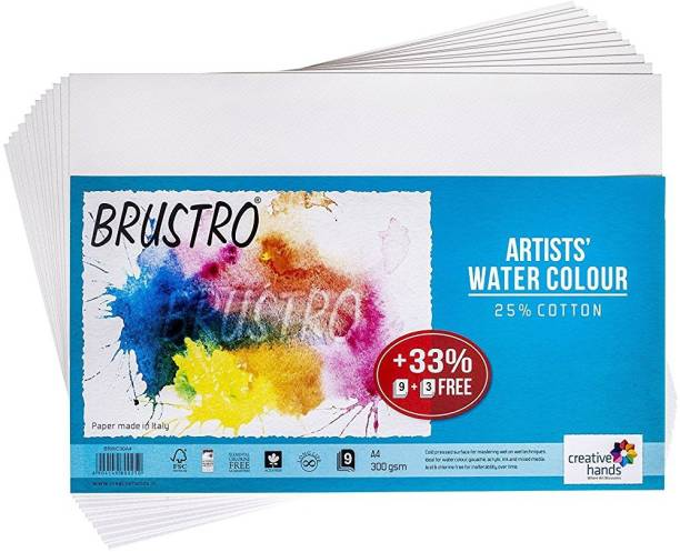BRuSTRO Super Series Unruled A4 300 gsm Watercolor Paper