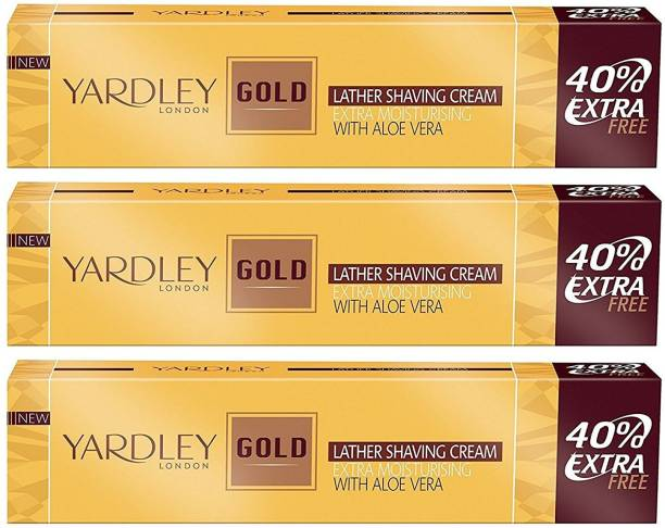 Yardley London Gold Shaving Cream - 70 g (Pack of 3)