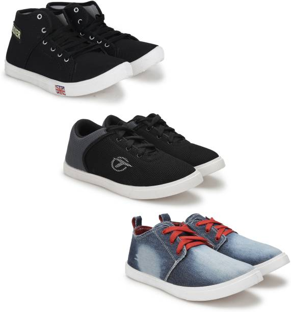 9e1502f4337 Treadfit Pack of 3 Perfect Casual Shoes