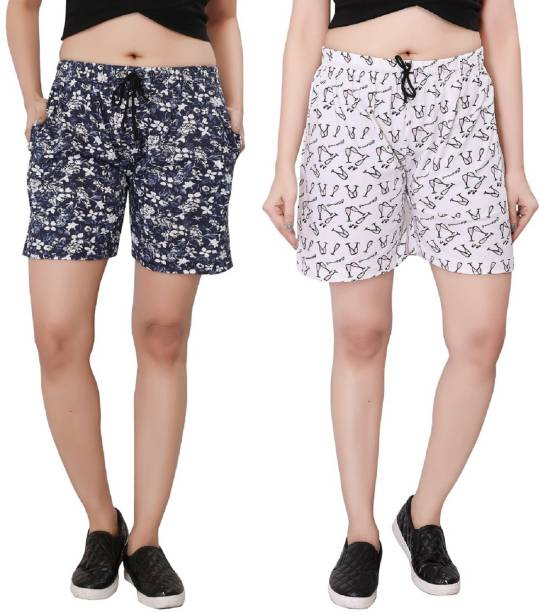 Bfly Floral Print Women Multicolor Night Shorts ae967d966e9