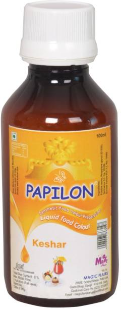 PAPILON CONCENTRATED FOOD COLOUR PREPARATION KESHAR 100 ML. Red