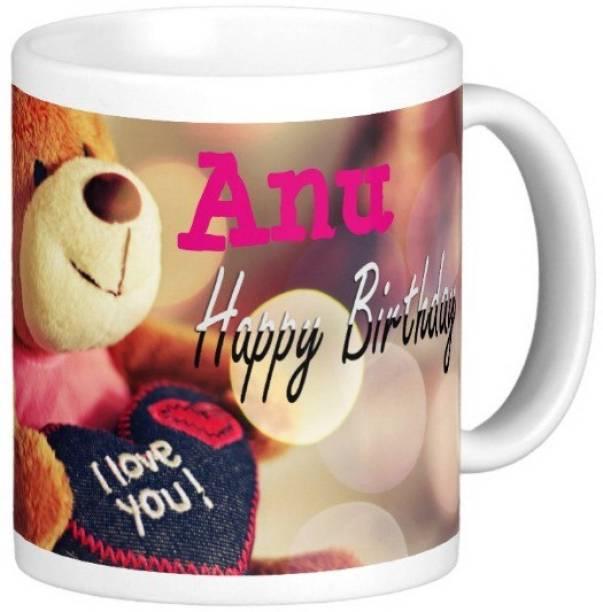 Exocticaa Happy Birthday Anu Ceramic Coffee Mug