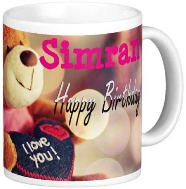 Exocticaa Happy Birthday Simran Ceramic Coffee Mug