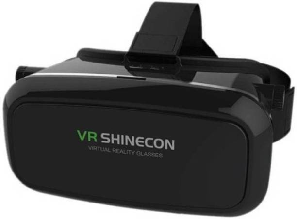 OFFENDER Virtual Reality Glasses Headset for 3D Videos Movies Games +Earphone Video Glasses (Black) (Smart Glasses)