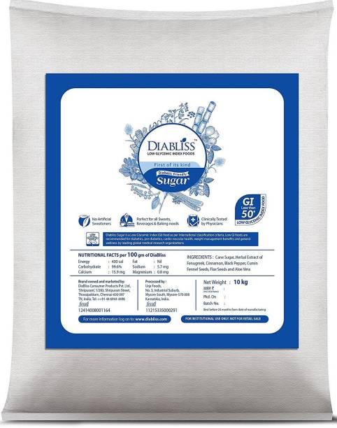 DiaBliss Diabetic Friendly Herbal Cane Sugar Free - Low Glycemic Index (GI) - 10Kg Institutional Bulk Pack Sugar