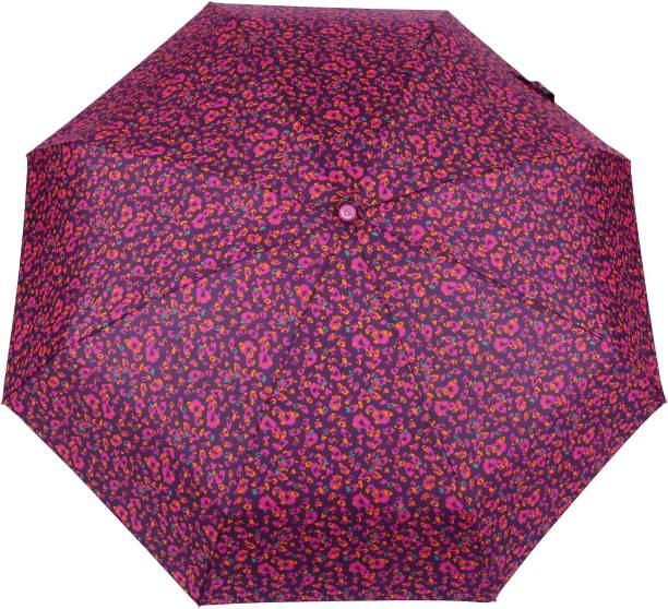 a706040b237ae FabSeasons 5 fold Floral Printed Small Compact Manual Umbrella which fits  in your Handbag for women