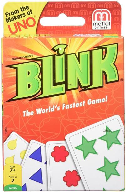 mattel GAMES Blink the World's Fastest Card Game, Multi Color Party & Fun Games Board Game