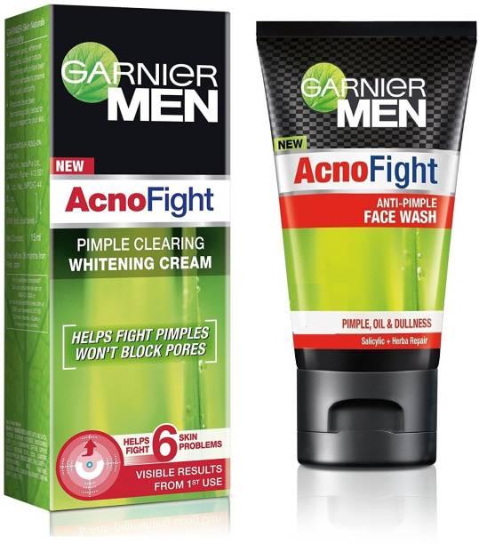 GARNIER Men Acno Fight Whitening Cream + Face Wash