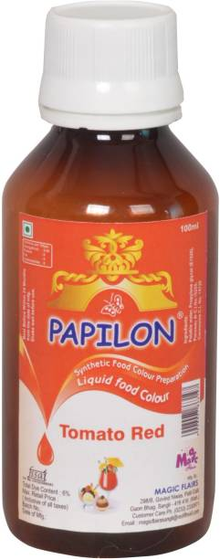 PAPILON CONCENTRATED FOOD COLOUR PREPARATION TOMATO RED 100 ML. Red