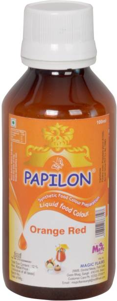 PAPILON CONCENTRATED FOOD COLOUR PREPARATION ORANGE RED 100 ML. Red