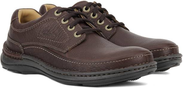 CLARKS NATURE THREE MAHOGANY LEATHER Corporate Casual For Men