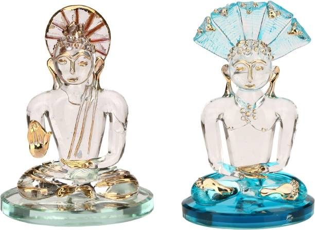 1st Time Mecor Peaceful Quite Blessing Mahaveera Combo-C37 Decorative Showpiece  -  11 cm