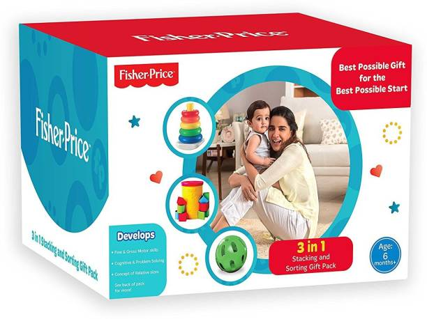FISHER-PRICE 3 in 1 Infant Stacking and Sorting Gift Pack