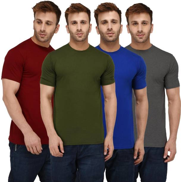 67c4ee69c Plain T Shirts - Buy Plain T Shirts online at Best Prices in India ...