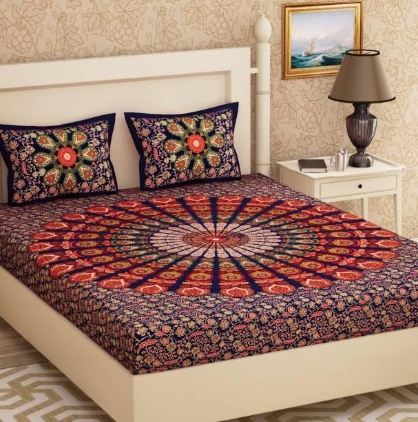 Metro Living 104 Tc Cotton Double Geometric Bedsheet