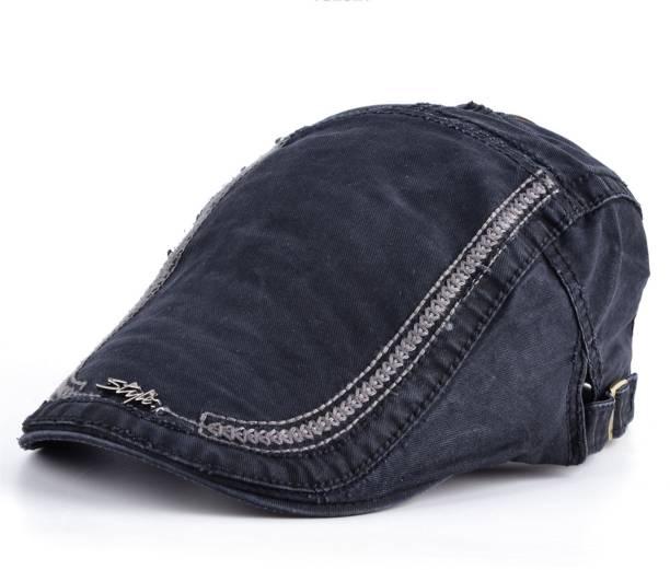 Friendskart Solid Men Berets Cotton fabric Hats Casual Visors Peaked cap  Gorras Planas Flat hat Cap 2937e0e8ef8c