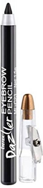 Eyetex Dazller Black Eyebrow Pencil (Natural & Organic Ingredients)