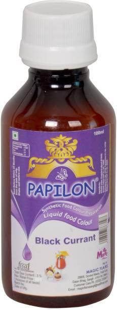 PAPILON CONCENTRATED FOOD COLOUR BLACKCURRANT 100ML Purple