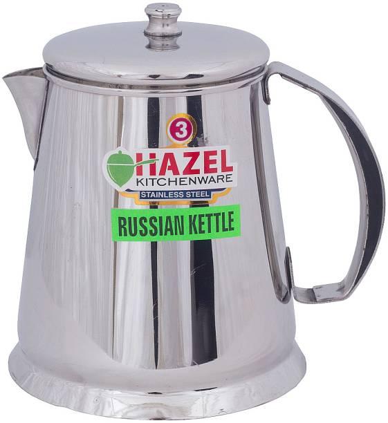 HAZEL 1 L Kettle Restaurant Stainless Steel Tea Pot Water Kettle Pitcher Coffee Pot with Handle (1050 ml), Silver Jug